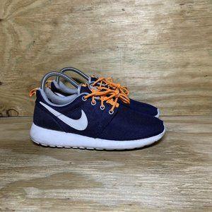 Nike Roshe Run Shoes Womens Size 7 Blue Orange White 599728-409